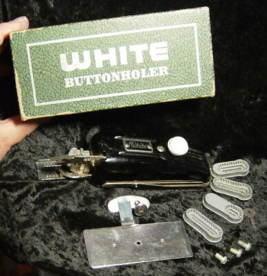 Singer Sewing Machine Attachments-White Buttonholer (vintage) Mixed Assortment