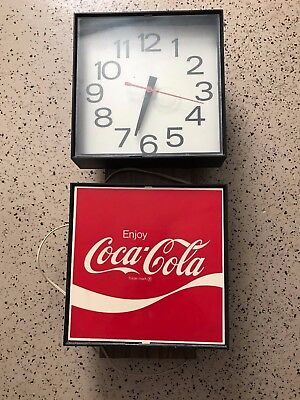 "Vintage Electric Lighted ""Enjoy Coca Cola"" Wall Clock"