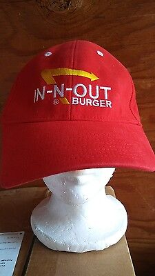 Outside Marketing IN N Out Burgers Red Hat Cap Size L
