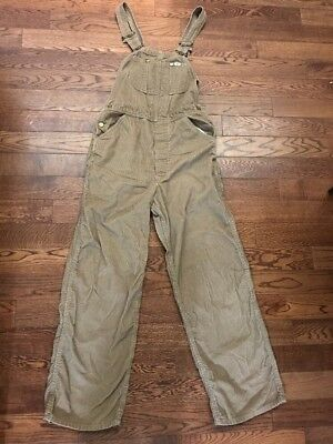 Vintage Lee Made In USA Corduroy Overalls