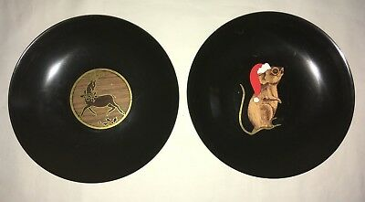 """VINTAGE COUROC of MONTEREY CHRISTMAS MOUSE AND REINDEER  7 3/4"""""""
