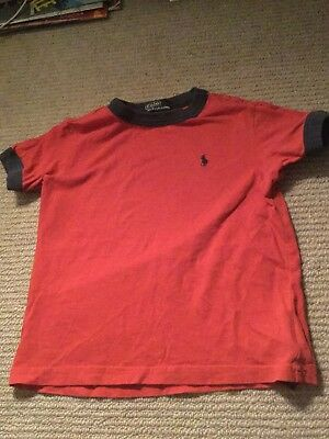 ralph lauren boys tshirt red age 3 years