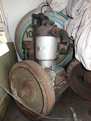 Unknown antique inboard marine engine 1920s OHV hit miss stationary See pics,