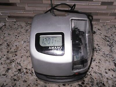 Amano-PIX-55-Atomic-Time-Clock-Recorder  ! Tested and working !