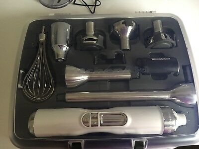 Portable Commercial Appliance Frosted Pearl 5 Speed Cordless Hand Stick Blender