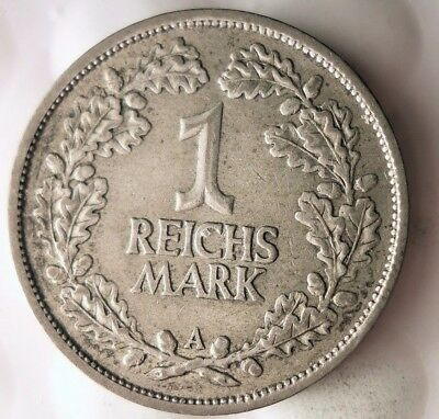 1926 WEIMAR GERMANY REICHSMARK - Rare Silver Coin - Lot #916