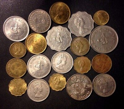Old Hong Kong Coin Lot - 1950-PRESENT - 20 Vintage Coins - Lot #917