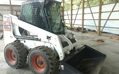 Bob Cat BOBCAT 863 Heated cab 2 speed skid steer Kubota diesel loader no reserve