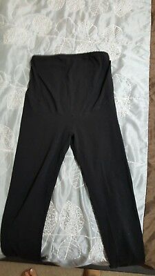 H&M maternity black leggings in a size M