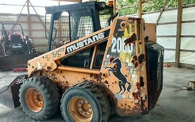 Mustang 2060 skid steer wheel loader no reserve bobcat bob cat