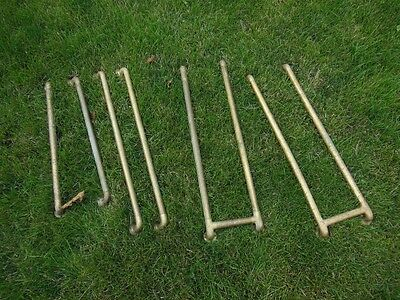 Fantastic 1920s era brass railings parts pieces boat? 1930s industrial BAR See