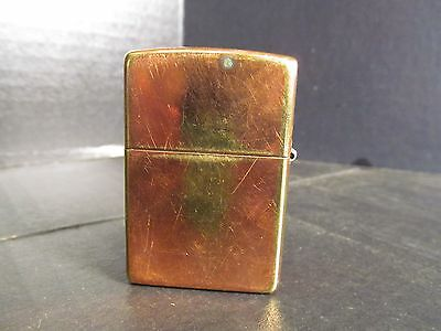 Zippo A 03 Lighter Bronze-tone Finish on Brass with Flat Bottom