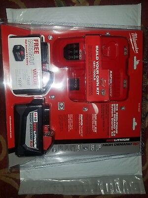 Milwaukee 48-59-1890P M18 Red Lithium High Demand 9.0 Battery & Charger Kit NEW