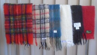 Mohair Scarf Lot (6) - Various Sizes and Colors