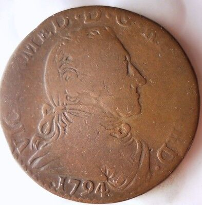 1794 ITALIAN STATES (SARDINIA) 5 SOLDO - RARE Great Collectible Coin - Lot #916
