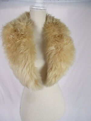 Large Thick Soft Vintage Shearling  Fur Plush Thick collar