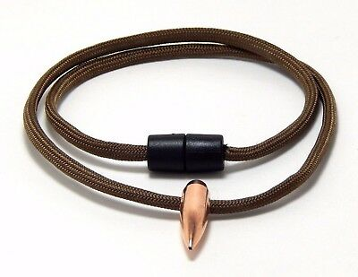Sniper Hog Tooth Necklace Brown Paracord  Break Away Barrel Clasp Handmade, Usa