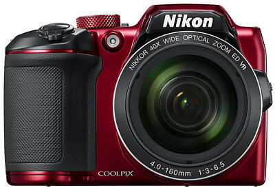 NEW Nikon - Coolpix B500 - 16MP - 40x Digital Compact Camera - Red from Bing Lee