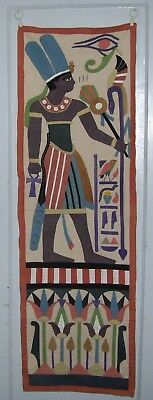 Antique Egyptian Tapestry Wall Hanging  Textile  2