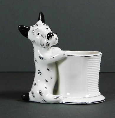 Vintage Porcelain Dog Toothpick Holder Walter Bosse