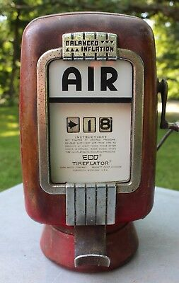 Vintage Eco Air Meter Tireflator Model 97 wall mount Gas Oil Service Station