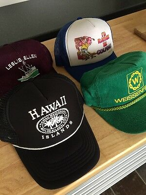 Vintage SnapBack corduroy And Mesh Trucker Hats Assorted Styles Lot Of 4