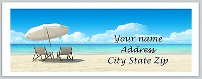 Personalized address labels Beach Buy 3 get 1 free (xco 856)