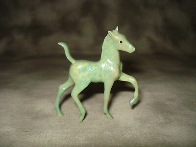Breyer CM Glossy Decorator Multi-colored Green Marbled Foal Stablemate
