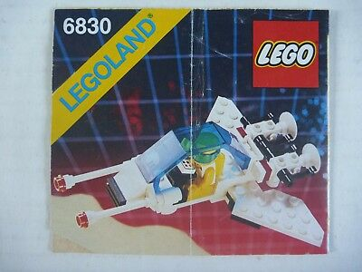 Lego 6830 Space FUTURON SPACE PATROLLER set INSTRUCTION MANUAL ONLY 1988