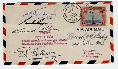 1930s Airmail cover signed by Gordon Cooper, Edmund Hillary, James Van Allen, ++