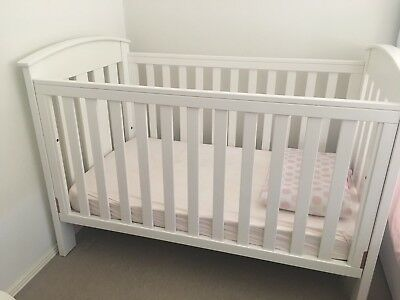 Boori White Wooden Cot