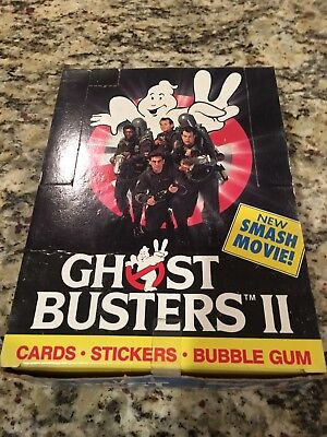 1989 Topps Ghostbusters II Trading Cards Sealed Box 36 pks.