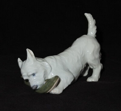 Royal Copenhagen Terrier with Slipper #3476 - MINT