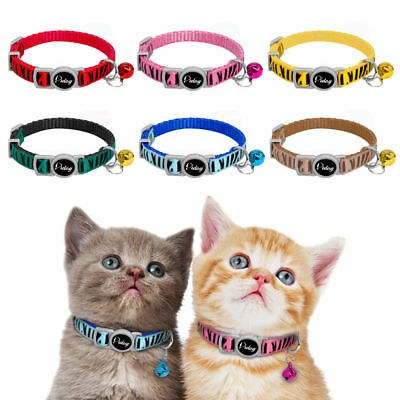 6pcs/Lot Quick Release Puppy Dog Kitten Cat Breakaway Collar Safety with A Bell
