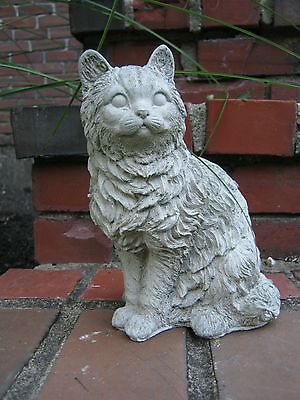 Cat Statue, Sitting Concrete Cat, Garden Cat, Outdoor Cement Cat, Garden Decor