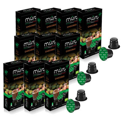 100 Nespresso Compatible  Pods - CAPSULES 10 PACKS ORGANIC CHOCOLATE