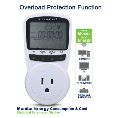 Digital Programmable Power Energy Consumption Meter Monitor Switch Outlet Socket