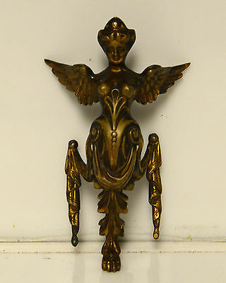 Antique Victorian Cherub Door Pull Bronze RARE Architectual Piece