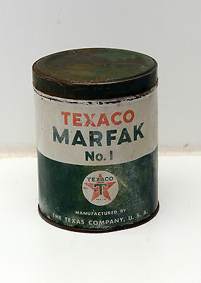 Vintage Texaco MARFAK No.1 Lubrication Oil Can Empty Grease