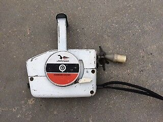 Johnson Seahorse 85hp Outboard Motor control box and cables