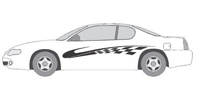 VINYL GRAPHIC #A714 SIDE DECAL AUTO SUV  VEHICLE CROSS OVER CHECKER  TRUCK SUV