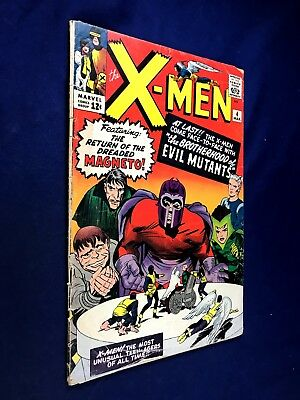 X-Men #4 (1964 Marvel) 1st appearance of Quicksilver, Scarlet Witch, Mastermind,
