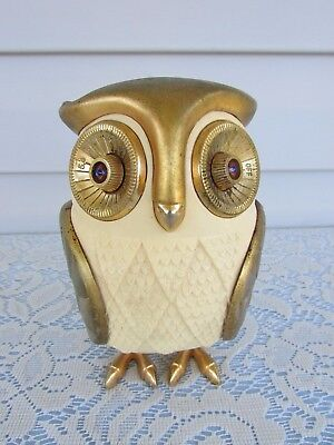 Vintage Midnight Owl Transistor AM Radio Tested Working Antique Made In Japan