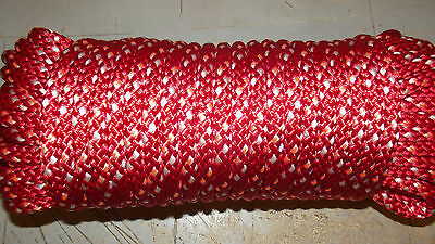 """5/16"""" (8mm) x 40' Halyard Line, Double Braid Vectran / Poly Line, Boat Rope"""