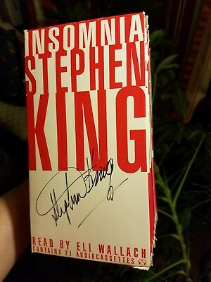 Stephen King Autograph Signed Insomnia on Audio Cassette Tape