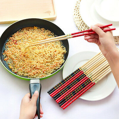 2 Pair Bamboo Reusable Noodle Chopstick Hot Pot Chopstick Long Chopstick