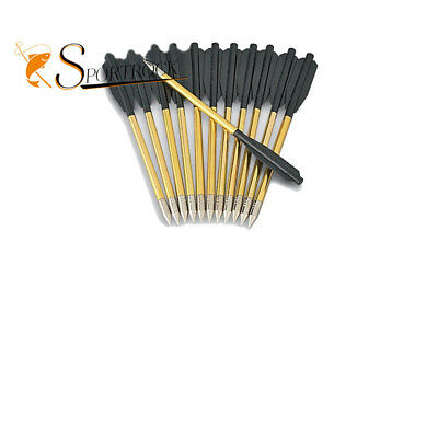 12pcs metal arrows bow crossbow for archery hunting shooting Practice 50 80lb