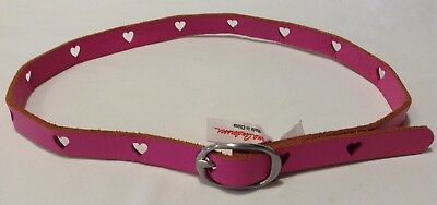 Hanna Andersson Girl's Belt Pink Leather Size Small