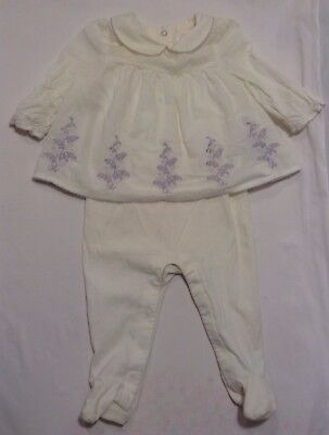 Janie & Jack Baby Girl One Piece Outfit White Size 3-6 Months