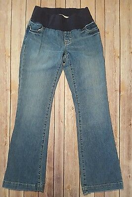 Gap Maternity Long and Lean Jeans Faded Denim Women's Size 0